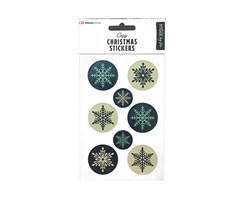 Modern Christmas Stickers Snowflakes