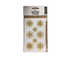 Traditional X-Mas Stickers Snowflakes